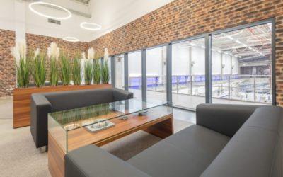Lounge im Industrieunternehmen in Lübeck (Schleswig-Holstein)